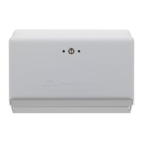 Georgia-Pacific 54701 White Multifold Towel Dispenser, 11.63