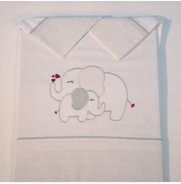 Medidas sabanas beb/é Cuna 60x120cm 10XDIEZ Juego de s/ábanas Cuna Franela Elefante Azul