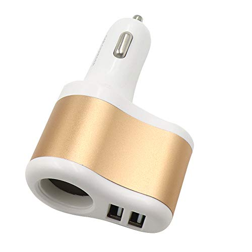 Yohii Car Charger Adapter, 3.1A Dual USB Car Charger Car Cigarette Lighter Adapter for iPhone 11 Pro XS MAX XR X 8 7 6 iPad Pro Samsung Galaxy S9 S10 S8, Champagne-White (Ipad Charger Champagne)