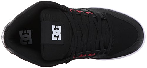 DC Men's Spartan High WC Skate Shoes Black/Red/Black free shipping newest fashionable cheap footaction for cheap supply for sale 86q0npw