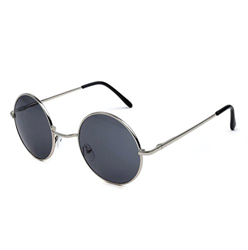 QingFan Men Women Round Vintage Aviator Mirrored Sunglasses Circle Eyewear Summer Outdoor Glasses (D, - Sunglasses Cheap Round Mens