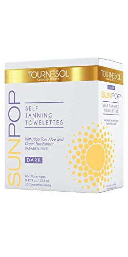 SunPop Self Tanning Towelettes Dark 10-count - self tan - tanning towels