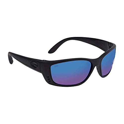 Costa Del Mar Men's Fisch Polarized Iridium Oval Sunglasses, Blackout, 63.5 ()