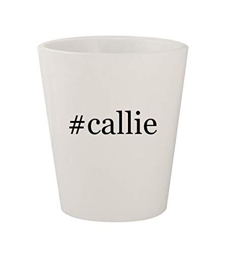 #callie - Ceramic White Hashtag 1.5oz Shot Glass