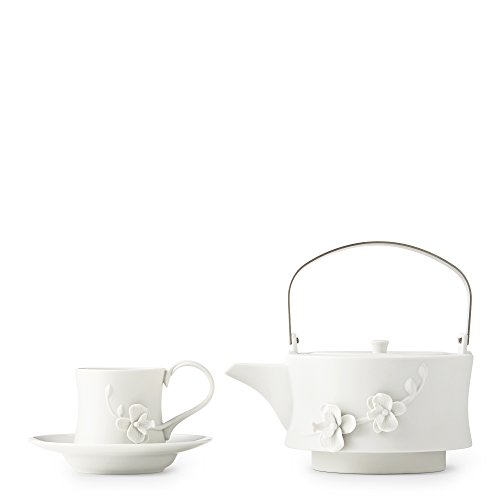 White Orchid Teapot Set by Teavana