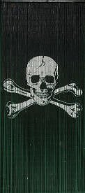 Pirate Flag Jolly Roger Beaded Curtain 125 Strands (+hanging hardware)