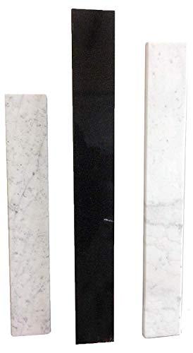 White Carrera Marble Saddle - Size 48 x 5 Inch - Polished -