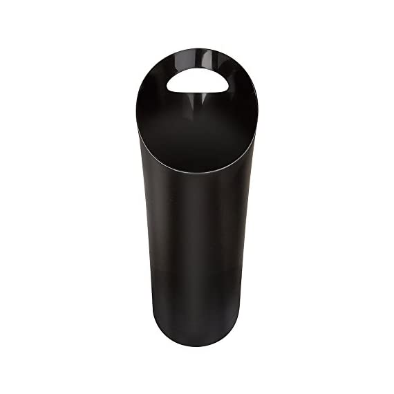Umbra Skinny 8 FITS ALMOST ANYWHERE: A stylish trash can with a modern slim design that looks great and easily fits into narrow openings and odd spaces in your bathroom, bedroom or office CLEVER DESIGN: Despite its narrow profile, Skinny trash can hold up to 2 gallons and features an integrated handle for easy transport and disposal of contents making it an ideal trash can for bathroom DURABLE & EASY TO CLEAN: Made of super-strong polypropylene, Skinny trash cans are durable, easy to wipe clean with a damp cloth, and features a rounded bottom with no crevices for dirt, grime, or liquids to get trapped in