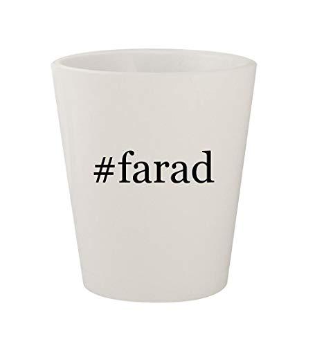 #farad - Ceramic White Hashtag 1.5oz Shot Glass ()