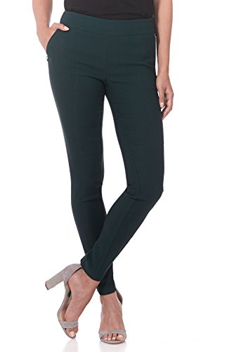 Rekucci Women's Ease in to Comfort Modern Stretch Skinny Pant w/Tummy Control (12,Hunter Green) (Best Shoes For Skinny Pants)