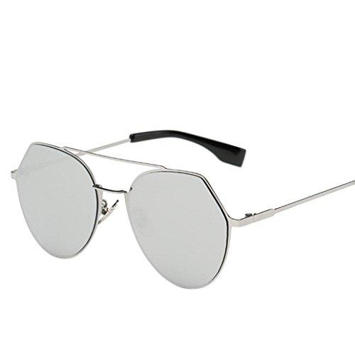 Clubmaster Classic Square Sunglasses Silver Flash Lense - 3