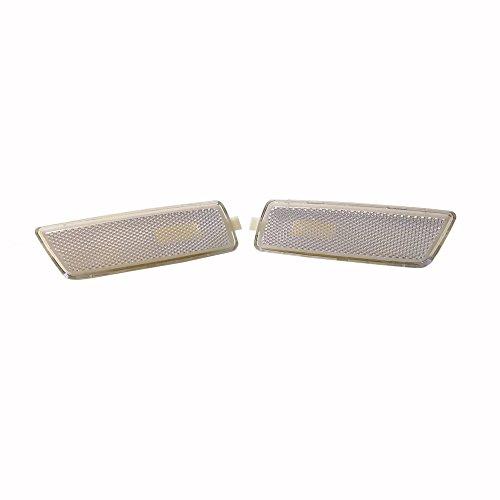 GSRECY For 06-09 VW MK5 RABBIT/GTI//GLI JETTA Front Bumper Side Marker Lights Lamp (White)