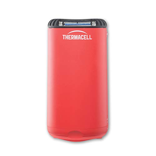 Thermacell Patio Shield Mosquito Repeller, Fiesta Red; Easy to Use, Highly Effective; Provides 12 Hours of DEET-Free Mosquito Repellent; Scent-Free, No Spray, No Smoke and Cordless ()