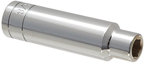 SK Hand Tool 41812 6 Point 1/2-Inch Drive Deep Fractional Socket, 3/8-Inch, ()