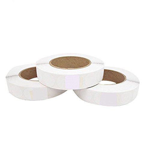 USPS Approved For Tabbing White 1 inch Wafer Seals Envelope Seals 2500 tabs per roll (3 Rolls Per Box) Save Big