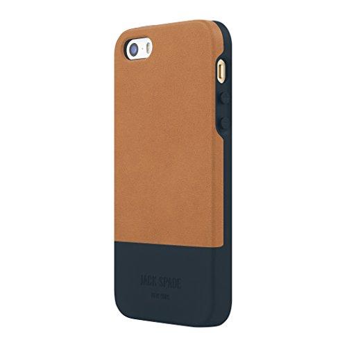JACK SPADE iPhone SE Case [Shock Absorbing] Cover fits Apple iPhone SE, iPhone 5s, iPhone 5 - Fulton Chocolate Brown/Black