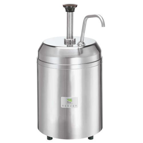 Server Products 94113 Chilled Food Dispenser, 2 HoldCold Jars, 2-3/4 quart, Steel