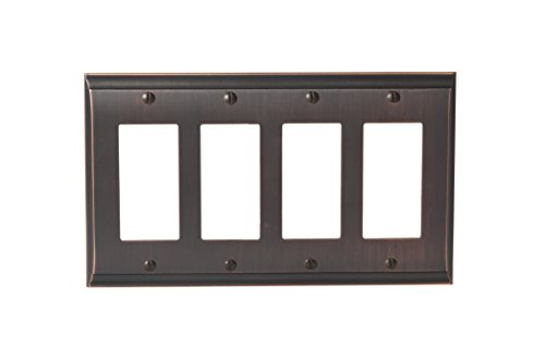 Amerock BP36507ORB Candler 4 Rocker Wall Plate - Oil-Rubbed Bronze by Amerock