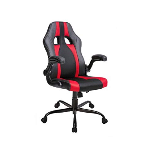 (YXHUI Executive High Back Racing Gaming Chair, PU Leather and Mesh, Durable Good Mood, Good Life (Color : Red))