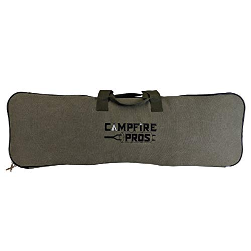 Iron Storage Bag - Deluxe Pie Iron Storage Bag, Padded With Straps, Fits Up To 4 Pie Irons. By Campfire Pros.