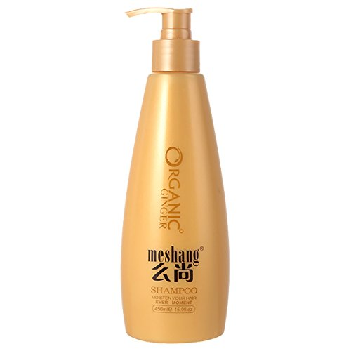 Meshang Washing Andprotecting Pure Ginger Shampoo, Promote Hair Growth,for Thinning Hair and Hair Loss,Effective Anti-dandruff, Improve Scalp Environment,450ml/15.9fl.oz