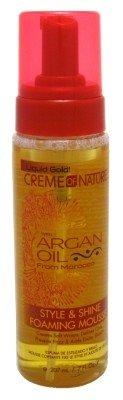 Creme Of Nature Argan Oil Style & Shine Foam Mousse 7oz (2 Pack) (Argan Oil Style And Shine Foaming Mousse)
