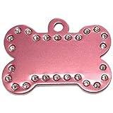 Amazon.com : Oscar de la Renta Pink Leather Pet Collar