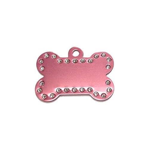 Swarovski Crystal Pet ID Tags - Bone Shape - 5 Colors