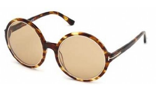 649127542d Tom Ford Carrie Oversize Round Sunglasses Havana FT0268 52J 59 59 Brown -  Buy Online in Oman.