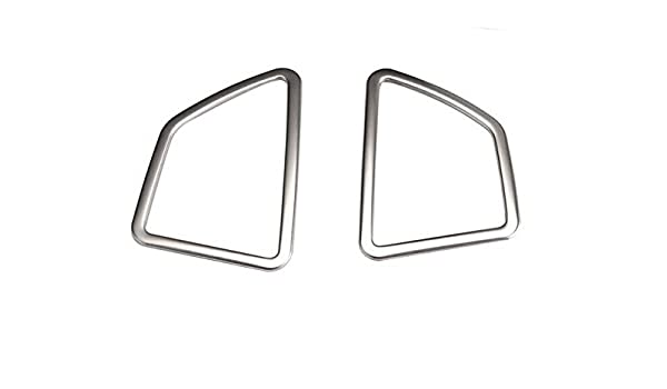 For BMW X5 E70 Front Upper Air Conditioning Outlet Trim Covers Matte Steel  2008-2013