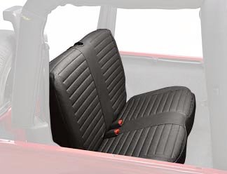Bestop 29229-35 Black Diamond Rear Bench Seat Cover for 2003-2006 2DR Wrangler & Unlimited (sold as individual seat cover) (Rear Vinyl Seat Bench)