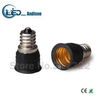 Halica E12 TO E17 adapter Conversion socket material fireproof material E12 socket adapter Lamp holder