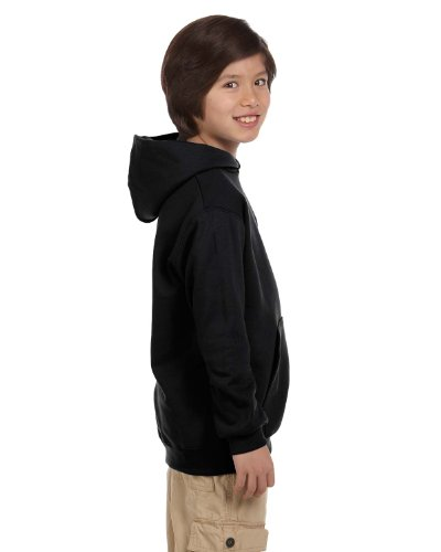 Champion Boys Youth Double Dry Action Fleece Pullover Hood(S790)-Black-L