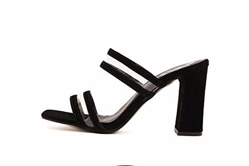 Usura Scarpe Di HBDLH Pantofole da Donne Trasparente Scarpe Summer Spessa donna Comfort Le Profilo Scarpe black Delle Stile Nuovo Muller Alto Moda Piccolo Forte qCZwvrdCx