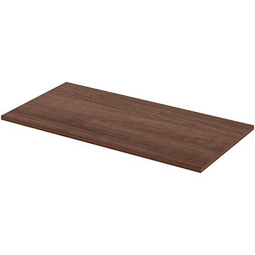 Lorell 59638 Height ADJ Standard Tabletop, 24''x48'', Walnut by Lorell