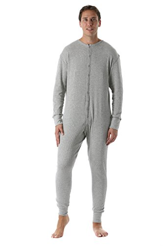 Men's Solid Thermal Henley Onesie ()