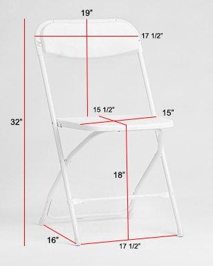 Plegable Spandex silla funda Compatible con: Metal o ...