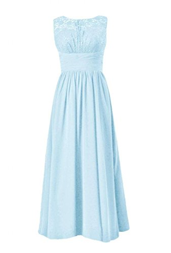 Sleeveless 40 ice Blue Party Dress W Evening Back Hollow BM2528 Dress Lace DaisyFormals AFaBqnRF