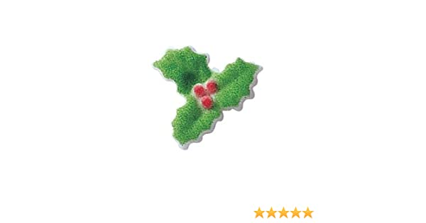 Amazon Com Christmas Holly Sugar Decorations Winter Holiday Cookie