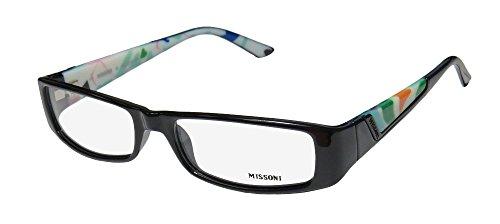 Missoni 05201 Womens/Ladies Designer Full-rim Eyeglasses/Glasses (53-17-135, Black / - Glasses Frames Missoni