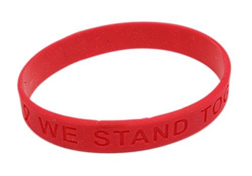 Red Ribbon Awareness Silicone (Red Awareness Ribbon Bracelet)