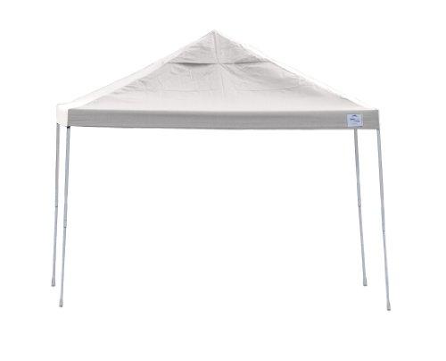Leg Shelter (12x12 Straight Leg Pop-up Canopy, White Cover, Black Roller Bag)