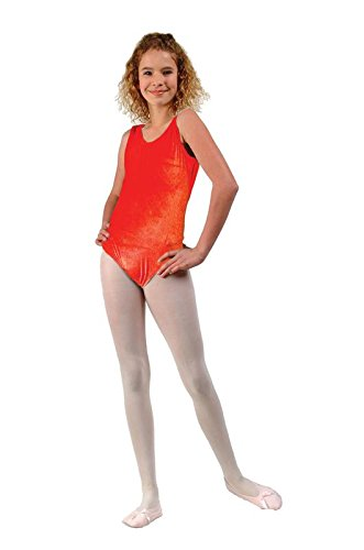 Dance Cheerleader Costumes (RG Costumes Girls Velvet Leotard Child Suit Costume, Red, Medium (7-8))
