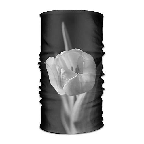- Fashion New Headwear Headband Black White Tulips Head Scarf Wrap Sweatband Sport Headscarves For Men Women
