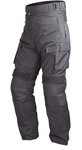 (Motorcycle Riding Pants Black with Removable CE Armor PT2 (L))