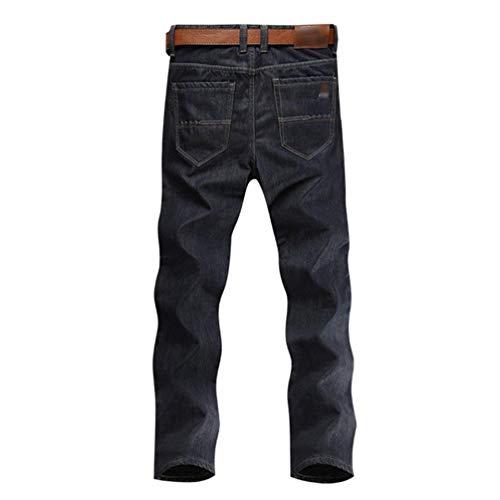 Blau Unita Da Inverno Spessore Pantaloni Caldi Jeans Tinta Fit A Sottili Lunghi Casual Slim Uomo Termici Di aUUxn4