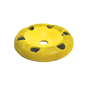 "Set of 4 - 4"" Donut Wheel, Round Face, Holes, Fine, Medium, Coarse, Extra Coarse Grit, Bore Size 5/8"" - Carving Wheels - Saburr Tooth - Rotary, Power Carving Tool"
