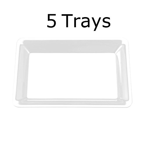 5 Rectangle Clear Plastic Trays Heavy Duty Plastic Serving Tray 10