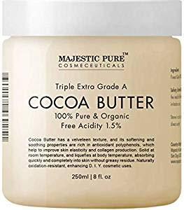 Majestic Pure Cocoa Butter, Organic, Raw, Unrefined Premium Grade Cocoa Butter - 8 oz …