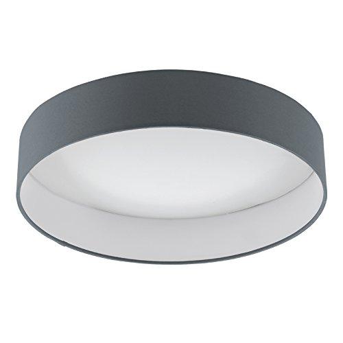 Eglo 93396 Plafonnier, Plastique, gris